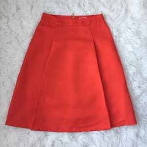 KATE SPADE Structured Midi Skirt Orange Size 2